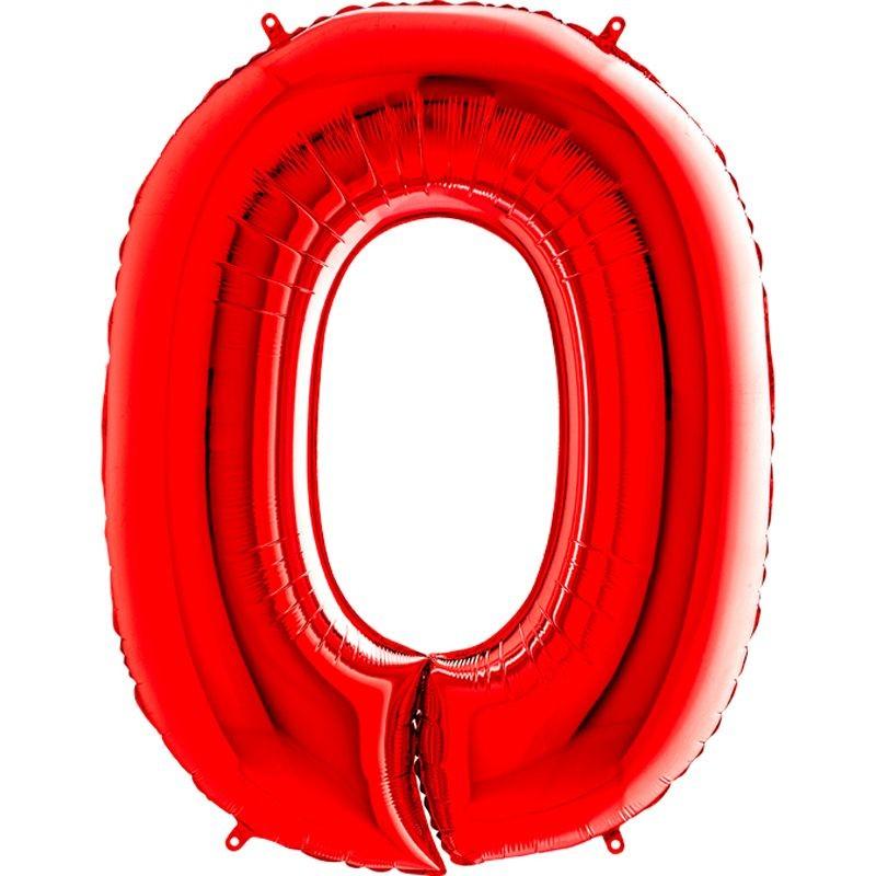 dea2120b9aebd 100 cm Kırmızı Renk 0 Rakamı Folyo Balon - Parti Balonları ve ...