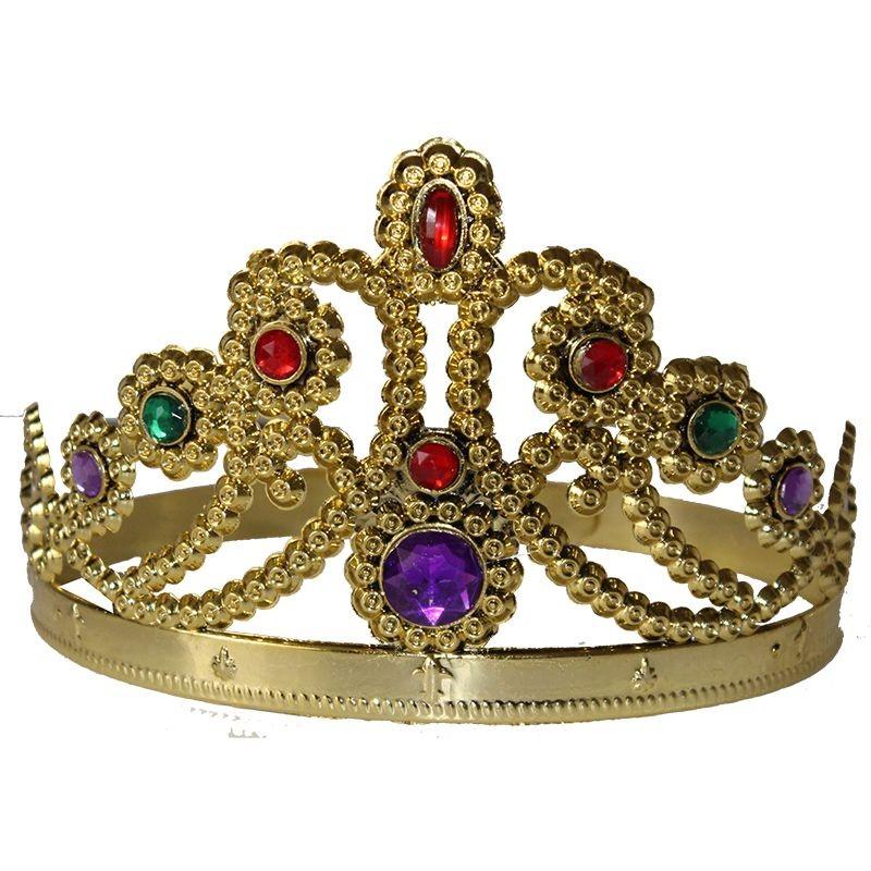 Sarı Renk Prenses Tacı Kraliçe Taç Prenses Ve Prens Partisi Dolu