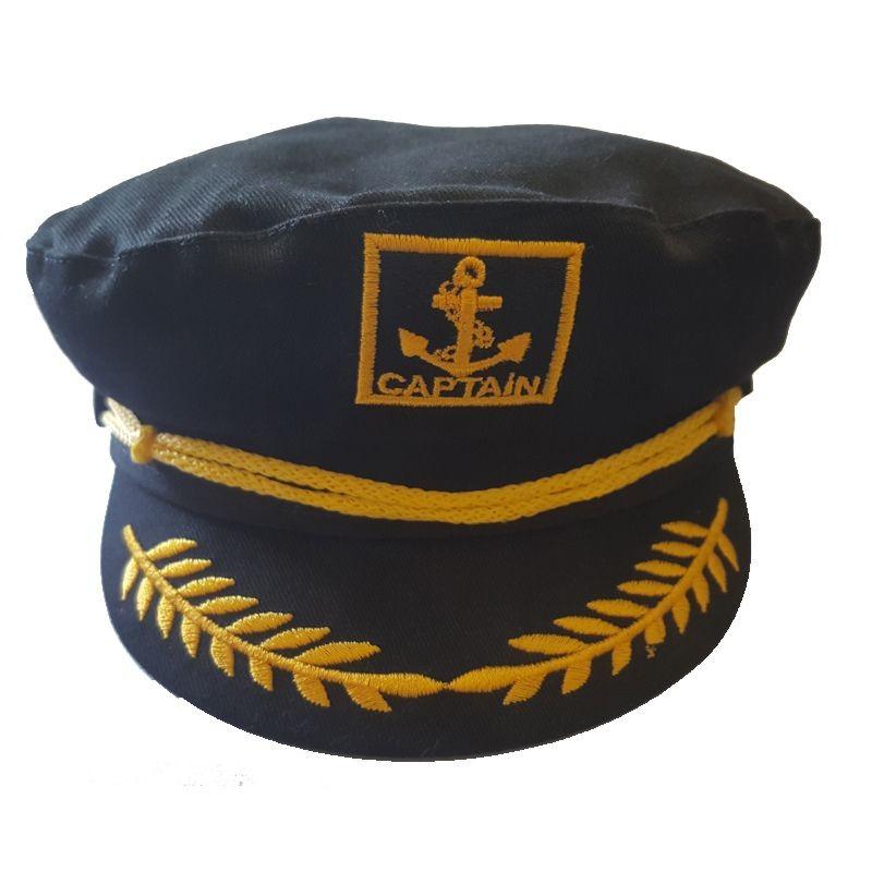 Siyah Renk Cocuk Denizci Kaptan Sapkasi 8 9 Yas Parti Sapkalari